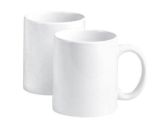 2er pack vbs kaffebecher kaffe tasse porzellan wei pott. Black Bedroom Furniture Sets. Home Design Ideas