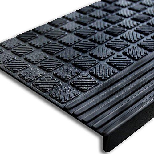 65x25cm t 30096 stufenmatte aus gummi mit winkelkante rutschfest f r innen und. Black Bedroom Furniture Sets. Home Design Ideas