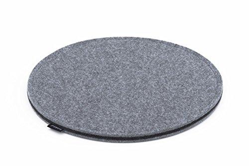 sitzkissen 37cm sitzauflage stuhlauflage filz dunkel grau rund 37cm modern 15mm stuhl garten. Black Bedroom Furniture Sets. Home Design Ideas