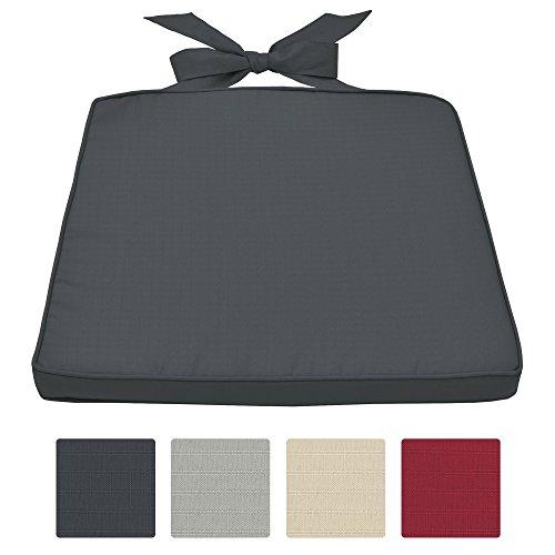 beautissu stuhlkissen pia sitzkissen f r rattan st hle mehr stuhlauflage 45x40x5cm abnehmbarer. Black Bedroom Furniture Sets. Home Design Ideas