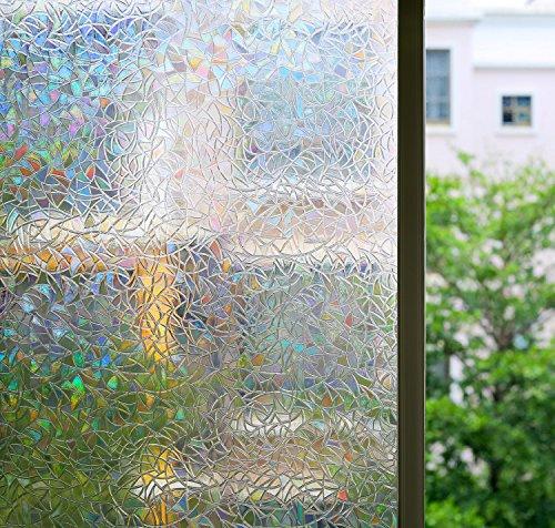 Zindoo 3d hochwertige premium no kleber fensterfolie - Fensterfolie statisch anbringen ...