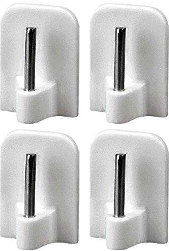 4 st ck gardinenhaken selbstklebend klebehaken f r gardinenstangen aus kunststoff mit. Black Bedroom Furniture Sets. Home Design Ideas