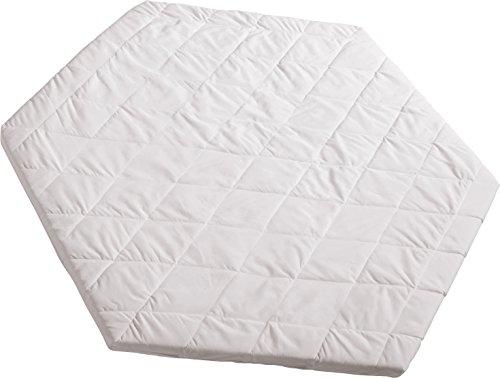 roba laufgittermatratze matratze f laufgitter 6 eckig laufstall matratze wei gesteppt. Black Bedroom Furniture Sets. Home Design Ideas