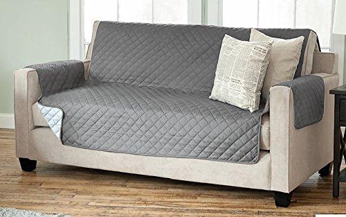 sesselschoner sofaschoner sesselschutz sofa berwurf 3 sitzer 191 x 279 cm anthrazit hellgrau. Black Bedroom Furniture Sets. Home Design Ideas
