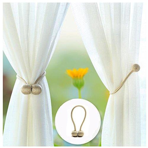 IHC Magnet Fenster Vorhang Clips Binding Tie Band VS Haken Raffhaltern  Europa Schnallen Raffhalter Ball Seil/Set Von 2 Beige
