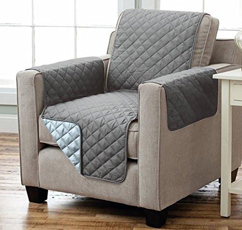 sesselschoner sofaschoner sesselschutz sofa berwurf 1 sitzer 191 x 165 cm anthrazit hellgrau. Black Bedroom Furniture Sets. Home Design Ideas