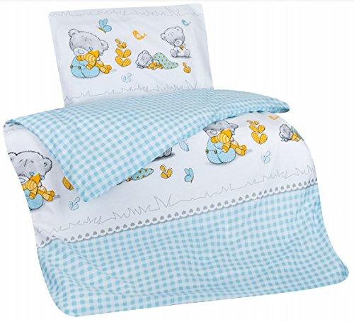 Aminata Kids Süße Bettwäsche Kinder Teddy Bär Bärchen 100135 Cm