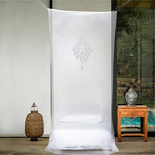 EVEN Naturals MOSKITONETZ Für Einzelbett, Mückennetz Bett, Baldachin Bett,  Rechteckiger Netzvorhang, Betthimmel Vorhang, Insektenschutz, Camping Netz  Mit ...