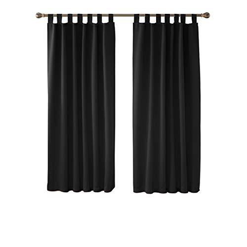 deconovo vorhang blickdicht schlaufen gardinen schlafzimmer thermogardine schlaufen. Black Bedroom Furniture Sets. Home Design Ideas