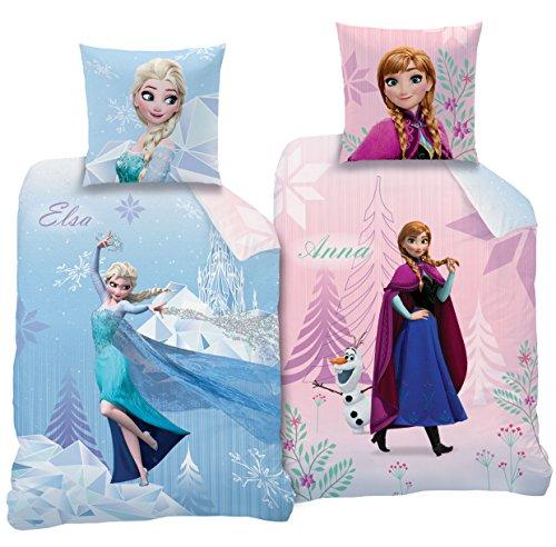 Disney Frozen Bettwäsche Set Flanell Hellblau 135 X 200 Cm 2
