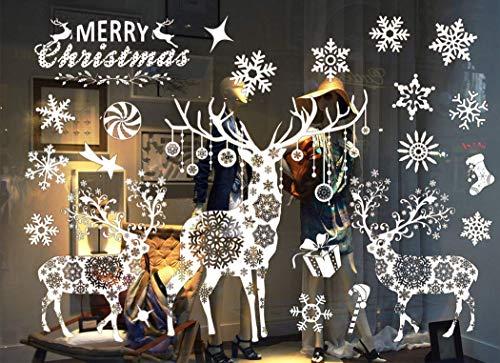 Sinwind weihnachten fenstersticker fensteraufkleber pvc fensterbilder weihnachten fensterdeko - Fensterfolie weihnachten ...