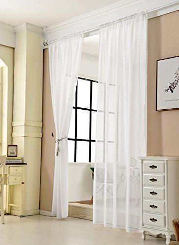 Deconovo Vorhang Blickdicht Kräuselband Gardinen